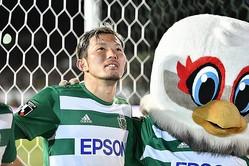 10シーズンに渡りプレーした松本から、JFL・ FCマルヤス岡崎に移籍した飯田。写真:金子拓弥(サッカーダイジェスト写真部)
