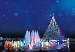 ウインターイルミネーション「光のファンタジーとハピネスの丘」(鹿児島県鹿児島市) / 3つのガーデンで多彩なイルミを楽しむ/(C)SHIROYAMA HOTEL kagoshima