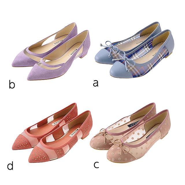 歩きやすくてオシャレ 美脚効果が高いキレイ色のペタンコ靴4選