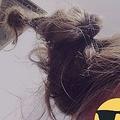 10日間風呂に入らず、ドレッドヘアのようになった板倉さんの髪