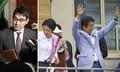 参院選選挙当時、河井案里候補の応援にかけつけた安倍首相(左は河井克行前法相)/(C)共同通信社