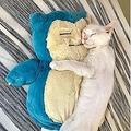 あまりにもかわいすぎる カビゴンに抱きつきスヤスヤ眠る猫が話題に