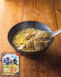 たまねぎで旨さマシマシ鶏団子卵とじ麺