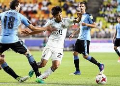 久保(20番)も出場した2年前のU-20W杯では日本が0-2で敗戦。この時のウルグアイにはベンタンクール(奥)などがいた。 (C) Getty Images