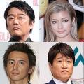 (写真左上から時計回り)坂上忍、ローラ、阿部寛、石井竜也、林修、保阪尚希