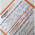 Amazon 宅配ドライバーが残した不在届(画像は『The Sun 2018年8月16日付「SPECIAL DELIVERY Amazon delivery driver leaves single mum angry note saying 'you messed me about' while she was in hospital with her mum who suffered broken hip」(IMAGE: DEADLINE NEWS)』のスクリーンショット)