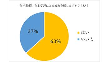 [画像] 6割以上が在宅の勤務・学習で疲れ、3割以上が生産性の低下を実感