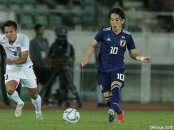 U-22日本代表MF三好康児(横浜FM)