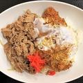 10月11日から提供が始まった「牛丼カツ丼」(税抜き690円)