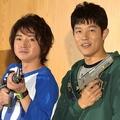 小学生役に違和感のない(左から)藤原竜也、鈴木亮平 (C)ORICON NewS inc.