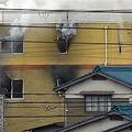 京アニのスタジオで火災