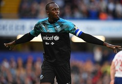 チャリティーマッチに精力的に参加するなど、サッカーへの愛を持ち続けているボルトが考える最速男は? (C) Getty Images