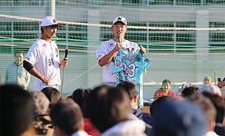 千葉ロッテ、キャンプ地・鴨川への義援活動の一環でチャリティーオークションを実施 最高額は福浦和也氏のバット