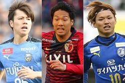 Jリーグで結果を残している伊藤(中央)と藤本(右)は、大迫の代役になり得る可能性を秘めた人材。田中(左)は将来性を買って選出した。