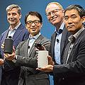 「Amazon Echo」の発表会には、Amazon.comでAmazon Alexaを統括するトム・テイラーシニア・バイス・プレジデントも駆けつけた
