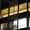 診療所が入っていたフロア(写真上)は改装作業中だった=2021年1月12日午後5時8分、東京都新宿区、黒田陸離撮影
