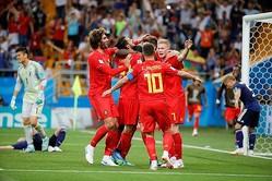 後半だけで5ゴールが飛び交った「ロストフの死闘」。ベルギー代表は0−2からの大逆転を成功させ、これが48年ぶりの快挙に。(C)Getty Images