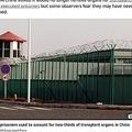 中国政府による強制収容施設(画像は『The Sun 2020年3月11日付「'KILLED ON DEMAND' Fears China is 'executing muslim prisoners and harvesting their organs to treat coronavirus patients'」(Credit: AP:Associated Press)』のスクリーンショット)