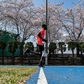 前橋市内で練習を行う、東京五輪・陸上男子1500メートル、南スーダン代表のグエム・アブラハム(2020年4月3日撮影)。(c)Philip FONG / AFP