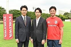 「ノーサイド・ゲーム」の最終回で共演! 大泉洋、櫻井翔、廣瀬俊朗  - (C)TBS