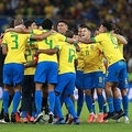 喜びを分かち合うブラジルメンバー photo/Getty Images