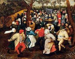 ピーテル・ブリューゲル2世  《野外での婚礼の踊り》  1610年頃 Private Collection/写真は主催者提供