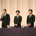 会見に臨んだTOKIOのメンバー(写真は2018年5月2日撮影)