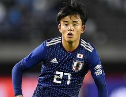 6月に続き、18歳の久保が日本代表に招集された。写真:金子拓弥(サッカーダイジェスト写真部)