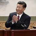 中国・北京で開かれた共産党の中央政治局常務委員会に出席した習近平国家主席(2017年10月25日撮影)。(c)WANG ZHAO / AFP