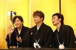 稲垣吾郎、草なぎ剛、香取慎吾が新年早々お年玉のようなお知らせをくれた/(C)AbemaTV