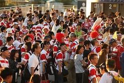 試合後の客席で起きた素晴らしい出来事とは…【写真:石倉愛子】
