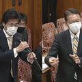 長妻氏(右)が国会で中国へ個人情報が流出した問題を厳しく問いただすも、「再調査はない」と言い張る田村厚労相