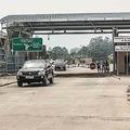コンゴ民主共和国のゴマで、エボラ出血熱流行を受けて閉鎖された対ルワンダ国境(2019年8月1日撮影)。(c) Pamela Tulizo / AFP
