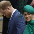 英ロンドンのウェストミンスター寺院で、英連邦記念日の式典に出席したヘンリー王子とメーガン妃(2020年3月9日撮影、資料写真)。(c)Tolga AKMEN / AFP