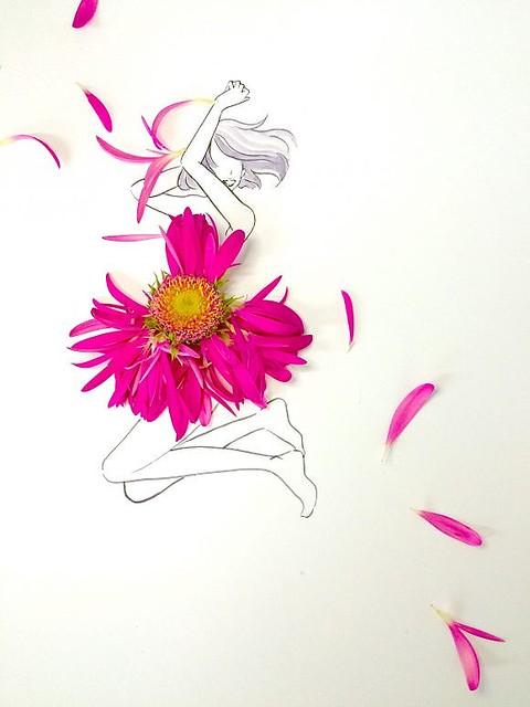 花びらとイラストの斬新アート フォロワー12万人超の はな言葉 って ライブドアニュース