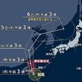 沖縄に接近中の台風4号 温帯低気圧に変化後、北日本に近づく可能性