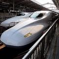 東海道新幹線、新大阪駅にて。
