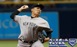ST. PETERSBURG, FL - APRIL 2:  Masahiro Tanaka #19 of the New York Yankees pitches during the first inning of a game against the Tampa Bay Rays on April 2, 2017 at Tropicana Field in St. Petersburg, Florida. (Photo by Brian Blanco/Getty Images)