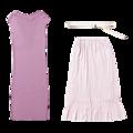 ニットワンピース+プリーツスカート+ベルトの3点セット9,500円+税/MERCURYDUO ルミネエスト新宿