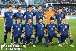 アジア杯決勝に挑んだ日本代表。この試合では初めて、スタメン11人全員が海外クラブ所属ということになった【写真:田中伸弥】