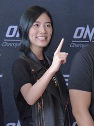 格闘イベント「ONEチャンピオンシップ」会見に出席した松井珠理奈