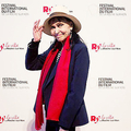 アンナ・カリーナさん(2018年ラ・ロッシュ・シュル・ヨン映画祭にて撮影) (C)Festival International du Film de La Roche-sur-Yon