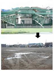 市原市内でも地価の高い五井にあったゴルフ練習場。3000坪を超える広大な更地は時価で8億円近くになる
