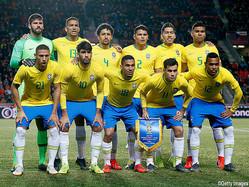 ブラジルが23名のメンバーを発表(写真は3月の親善試合・チェコ戦)