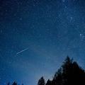 2016年のペルセウス座流星群の様子。