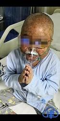 博仁病院で治療を受けた当時の裕�くん。(遺族提供)