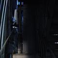 現場のビル。階段を上れば屋上に出る