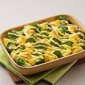 マヨネーズを焼いたメニュー例「ブロッコリーとじゃがいもとゆで卵のマヨネーズ焼き」