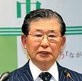 出席した新年会について説明する加藤久雄市長=長野市役所