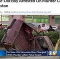 14歳少年が運転する車に衝突され大破した女性の車(画像は『CBS Dallas 2019年1月2日付「14-Year-Old Boy Arrested On Murder Charge After Fatal Crash In Houston」』のスクリーンショット)